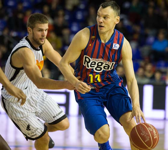 Jasikevicius gobernó la prórroga a su antojo. Foto ACB